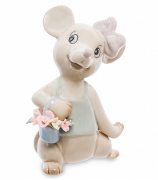 Фарфоровая фигурка «Мышка с цветами»