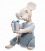 Фарфоровая фигурка «Мышонок с подарком»