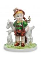 Фарфоровая статуэтка «Маленький пастушок»