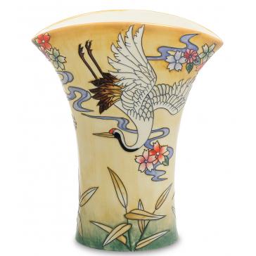 Фарфоровая ваза для цветов «Журавлий»