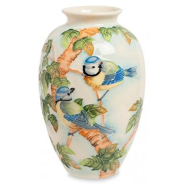 Фарфоровая ваза для цветов «Синички»
