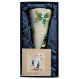 Фарфоровая ваза для цветов «Звуки леса»
