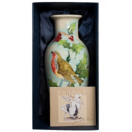Фарфоровая ваза для цветов «Птица на ветке»