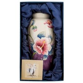 Фарфоровая ваза для цветов «Гибискус»
