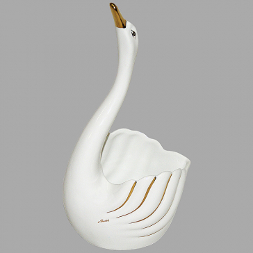 Изящная ваза для фруктов «Лебедь», Италия