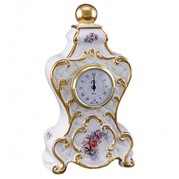 Настольные часы из керамики «Букет», высота 30 см