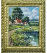 Картина «Сельский пейзаж». Da Mari. Масло