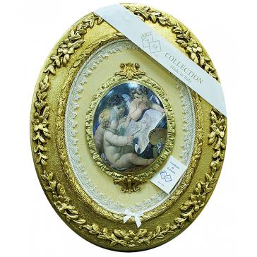 Настенное панно с медальоном «Рисующие ангелы», Италия