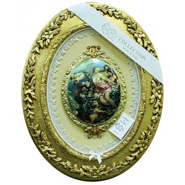 Настенное панно с медальоном «Девушки и ангел», Италия