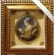 Панно с овальным медальоном «Девушка с книгой»
