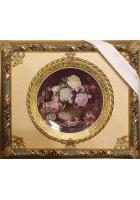 Панно с тарелкой «Корзинка с розами»