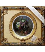 Панно с тарелкой «Цветы в высокой корзине»
