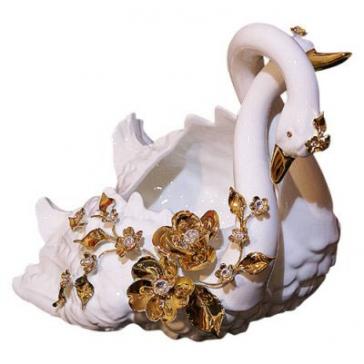 Ваза для фруктов «Лебеди», Италия