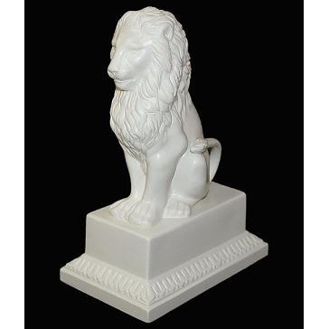 Статуэтка из керамики «Лев», цвет, белый