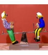 Статуэтка «Клоуны на качелях»