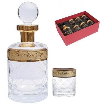 Подарочный набор для виски «Whisky»: графин и 6 бокалов