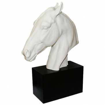 Фарфоровая статуэтка-бюст «Голова лошади», Италия