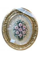 Панно овальное «Букет с розами»