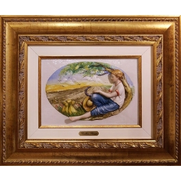 Фарфоровая картина «Времена года», Италия