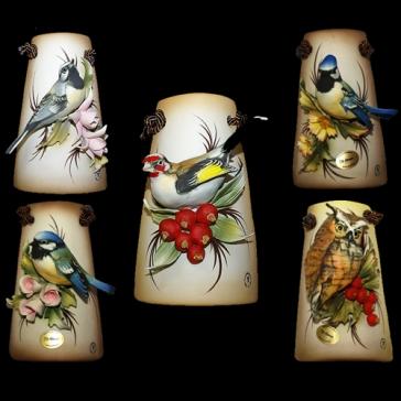 Миниатюрное панно из фарфора «Птицы»