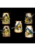 Миниатюрное панно «Птичка на цветке»