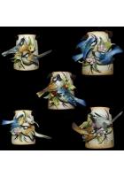 Миниатюрное панно «Пара птичек в цветах»