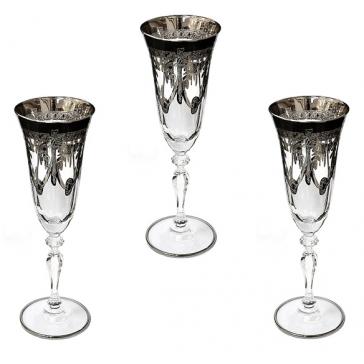 Набор из 6-ти бокалов для шампанского «Platinum»