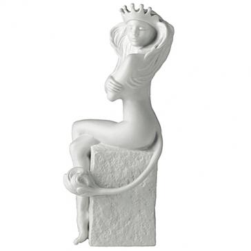 Фарфоровая статуэтка «Лев» (цвет белый)