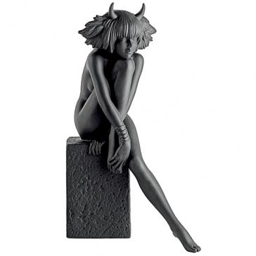 Фарфоровая статуэтка «Телец» (цвет черный)