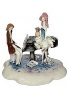 Фарфоровая статуэтка «Пианист и балерина»