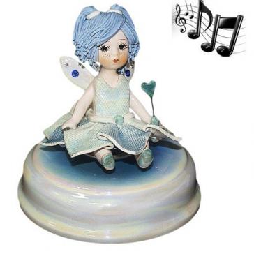 Фарфоровая музыкальная статуэтка «Маленькая фея»