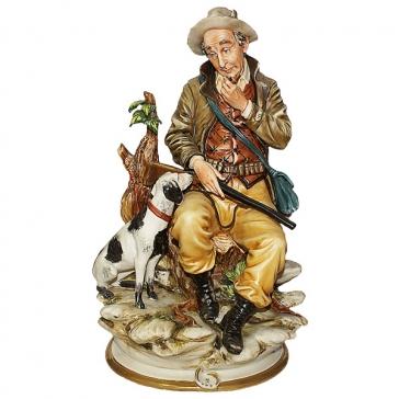 Фарфоровая статуэтка «Охотник», Италия