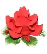 Фарфоровая фигурка-подсвечник «Алая роза»