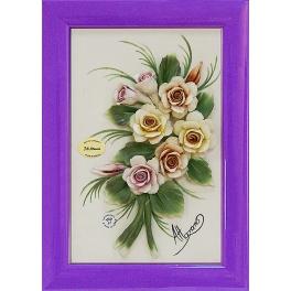 Барельефное панно из фарфора «Розы»