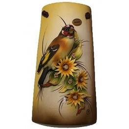 Миниатюрное панно из фарфора «Птичка в цветах»