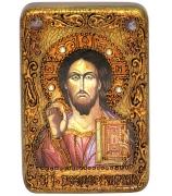 Икона «Господь Вседержитель» в деревянной шкатулке