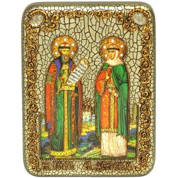 Подарочная икона «Петр и Феврония Муромские»