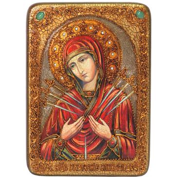 Подарочная икона Богородицы «Умягчение злых сердец» в шкатулке