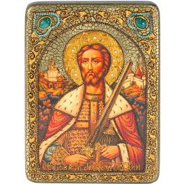 Икона «Святой благоверный князь Александр Невский» в шкатулке.