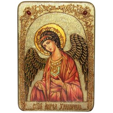 Живописная икона «Ангел Хранитель», подарочная, на дубовой доске.