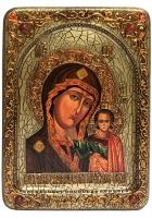 Живописная икона Казанской Божией Матери