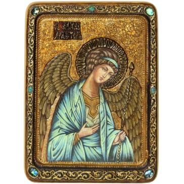 Живописная икона «Архангел Михаил» на кипарисовой доске.