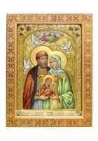 Живописная икона «Петр и Феврония»