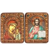 Венчальная пара «Казанская икона Божией Матери» и «Господь Вседержитель»