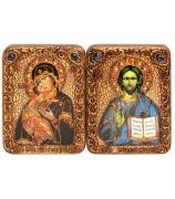 Венчальная пара «Владимирская икона Божией Матери» и «Господь Вседержитель»