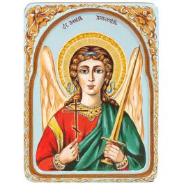 Рукописная икона «Ангел Хранитель» с киотом, производство Россия