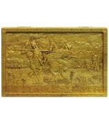 Резные нарды «Поединок Пересвета с Челубеем на Куликовом поле»