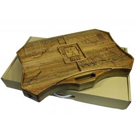 Резные нарды из морёного дуба «Нижний Новгород» купить в подарок