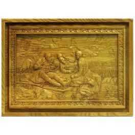 Русское лото «Охотники на привале» в деревянной шкатулке