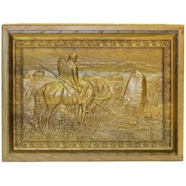 Двухуровневая шкатулка из мореного дуба «Витязь на распутье»